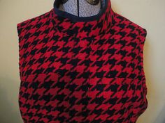 Adorable with riding boots! Womens Tommy Hilfiger Wool Houndstooth Zip Front Jacket Vest Red Navy 14 P New With Out Tags $24.99   http://cgi.ebay.com/ws/eBayISAPI.dll?ViewItem=300811642422=STRK:MESE:IT