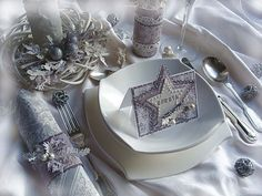 ... Napkin Rings, Place Cards, Table Settings, Shabby Chic, Scrapbooking, Home Decor, Christmas, Xmas Cards, Xmas