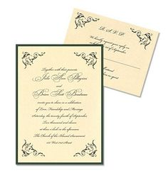 Claudia 2-Layer Wedding Invitations by MyGatsby.com