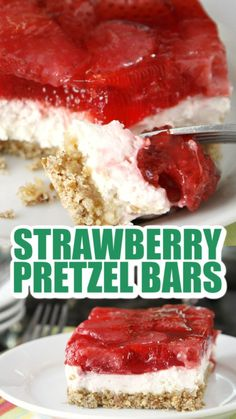 Make Ahead Desserts, Just Desserts, Delicious Desserts, Yummy Food, Tasty, Strawberry Dessert Recipes, Summer Dessert Recipes, Strawberry Pretzel Salad, Pretzel Desserts