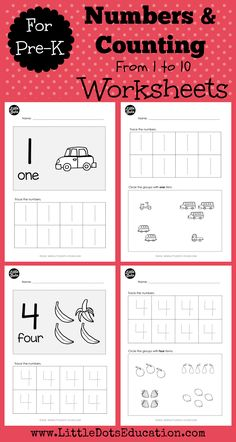 Preschool worksheets help your little one develop early learning skills. Try our preschool worksheets to help your child learn about shapes, numbers, and more. Give your child a boost using our free, printable Preschool worksheets. Learning Numbers Preschool, Preschool Prep, Kindergarten Prep, Preschool Lessons, Kindergarten Worksheets, Teaching Numbers, Toddler Preschool, Pre K Worksheets, Printable Preschool Worksheets