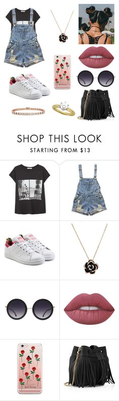 """Sem título #2328"" by mahceinha ❤ liked on Polyvore featuring MANGO, adidas Originals, Alice + Olivia, Lime Crime, Whistles and Tiffany & Co."