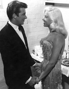 Diana Dors with husband Richard Dawson (off of the original Family Feud!!)
