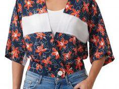 Offener Halsausschnitt im Coverlook » BERNINA Blog Clutch Tutorial, Paper Birds, Shirt Bluse, Bargello, Diy And Crafts, Floral Tops, Shirts, Blog, Ursula