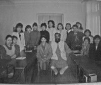 Acharya in Mongolia with his doctor students 1994