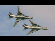Fantastic display of 2 Polish Air Force Sukhoi Su-22 at Air 14 Payerne