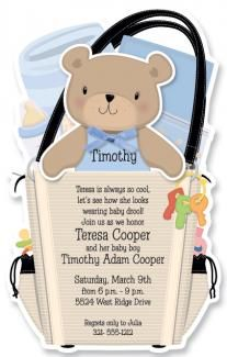 The much loved teddy bear will delight every invitee that opens this invite.