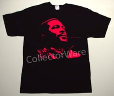 MARVIN GAYE drawing 6 CUSTOM ART UNIQUE T-SHIRT Each T-shirt is individually hand-painted, a true and unique work of art indeed!  To order this, or design your own custom T-shirt, please contact us at info@collectorware.com, or visit to http://www.collectorware.com/tees-marvin_gaye.htm