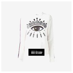 Shop Kenzo on dolcitrameshop.com #kenzo #sweater #eyes #newin #newarrivals #fashion #womenswear #womens #fw13 #aw13 #collection #shoponline #dolcitrame