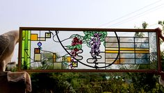 Stained glass panel glass baccara