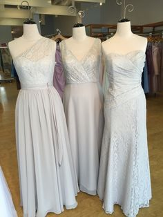 Alfred Angelo Disney maidens lace bridesmaid dresses in moonlight waltz