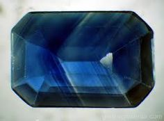 natural sapphire inclusions. Colour zoning and silk