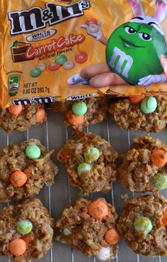 Carrot Cake Coconut Cookies with Carrot Cake M & M's for #Easter