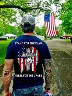 Stand for the Flag, kneel for the Cross GOD BLESS AMERICA AND GOD BLESS PRESIDENT TRUMP!!! ~@guntotingkafir