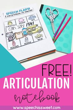 Interactive notebooks are fun, engaging, and motivating. Your speech therapy students will love this free articulation notebook! This notebook addresses /l/, /th/, /r/, and /s/ blends. These activities are great for articulation therapy and speech homework! To gain access to this freebie just enter your first name and email address. | Speech is Sweet