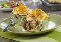 Campbell's Mini Shepherd's Pies Recipe -= Here's a new way to enjoy a classic comfort food!  Your favorite shepherd's pie ingredients are combined, spooned into muffin-pan cups and baked to delicious perfection.  Each mini pie is full of flavor and sure to become a weeknight family favorite.