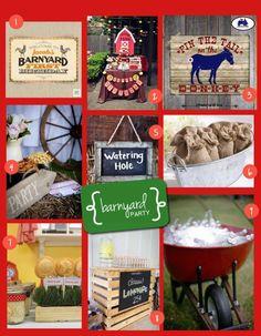 53a44382dde Barnyard Party Cowboy Birthday Party, Birthday Games, Farm Birthday, 3rd  Birthday Parties,
