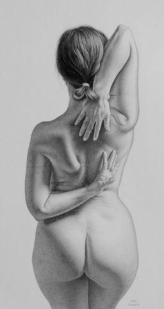 graphite pencil on paper / model: Maude Bonanni / reference by: New Masters Academy #maudebonanni #graphite #drawing #artwork #fabercastell #kresba #kreslenie #ceruzka #newmastersacademy  #beautifulwoman #artisticnudity  #cartafabriano #fabrianobristol #traditionalart #art