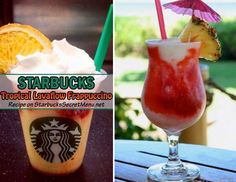 Tropical Lavaflow Frappuccino | Starbucks Secret Menu