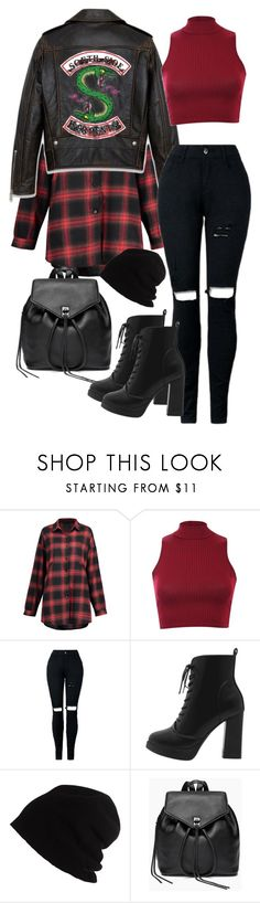 """South Side Serpents"" by novasamb on Polyvore featuring mode, Pilot, SCHA et Rebecca Minkoff"