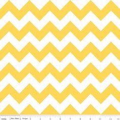 Riley Blake Medium Chevron Yellow Fabric 1 yard by Ahmelie on Etsy, $9.00