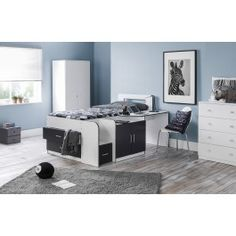 Julian Bowen Cookie Cabin Bed in White/ Charcoal