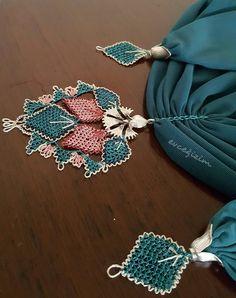 Point Lace, Scarf Jewelry, Needle Lace, Scarf Design, Bead Weaving, Needlework, Crochet Earrings, Crochet Patterns, Pendants