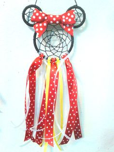 Check out this item in my Etsy shop https://www.etsy.com/listing/245934670/minnie-mouse-dream-catcher-minnie-dream