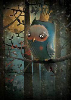 """King Owl"" par Hilde Groven"