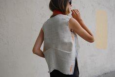 Christina DeSmet design | Project de. | raw linen shirt with original selvedges | DeSmitten