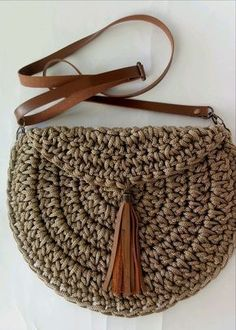 Tunisian Crochet: How to Knit a Circle We want to thank . Tunisian Crochet: How to Knit a Circle We want to thank you if you . - # Crochet Always . Crochet Handbags, Crochet Purses, Crochet Bags, Crochet Baskets, Knitting Patterns, Sewing Patterns, Crochet Patterns, Purse Patterns, Knitting Ideas