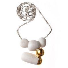 Anna Kiryakova - Porcelain meets gold - Necklace.