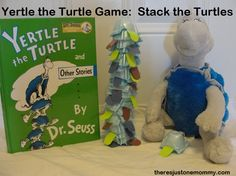 Yertle the Turtle activity -- easy DIY game to make to go with the #Dr.Seuss book! from There's Just One Mommy