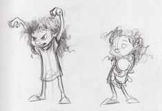 Original concept sketch of Boo from Monsters Inc.