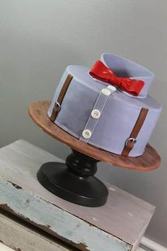 Shirt Cake great as an grooms cake, fathers day or just as an men cake Or like a dr. who cake! add brown jacket and voila Pretty Cakes, Cute Cakes, Beautiful Cakes, Amazing Cakes, Unique Cakes, Creative Cakes, Fondant Cakes, Cupcake Cakes, Shirt Cake