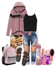 """Pink Contest*"" by lull-babbey0 ❤ liked on Polyvore featuring Victoria's Secret"