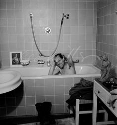 David E. Scherman in Hitler's bath LeeMiller - 497 | LeeMiller