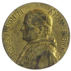 AE Medaille 1925 Pius XI. 1922 - 1939, auf das Jubeljahr 1925; Av.: Papstbüste nach links, Rv.: die Heiligen Petrus und Paulus