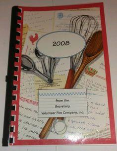 Volunteer Fire Department Secretary MD community Fundraising Cookbook