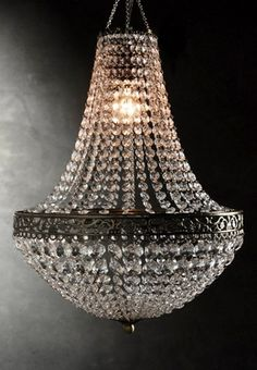 Old fashioned crystal chandeliers 100