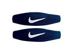 """Nike Dri-Fit Bands (1 Pair, OSFM, Navy/White). Dri-FIT material wicks away moisture, keeps arm cool and dry. Flat-seam construction for comfort and support. Accentuate bicep, elbow, and calf muscles. 9"""" resting circumference stretches to 21"""" maximum."""