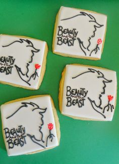 Pink Little Cake: Beauty and the Beast Cookie favors