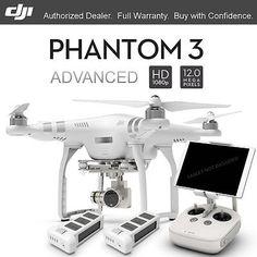 100% Original DJI Phantom 3 Advanced RTF RC Drone 12MP HD Camera 2pcs Battery On #Ebay