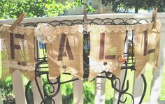 The Porcelain Rose: FALL Banner ~ Burlap and Lace