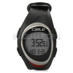 Спортивные часы Cielo WT005 с нагрудным пульсометром, черный