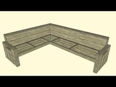 Loungebank maken, gratis bouwtekening voor steigerhout.
