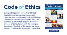 Code of Ethics Brochure Early Education, Early Childhood Education, National Quality Framework, Early Childhood Australia, Code Of Ethics, Curriculum, Outlines, Public, Coding