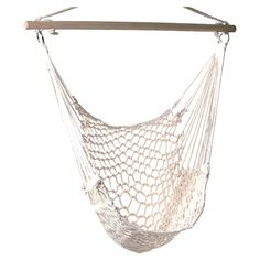 Relax with your favorite novel and a glass of iced tea in this hanging hammock chair, crafted from upcycled cotton rope.     Product:...