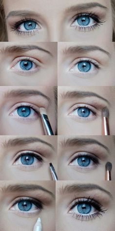 Simple make up for blue eyes