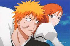 Ichigo and Orihime Bleach Ichigo Hollow, Bleach Anime, Bleach Ichigo Bankai, Bleach Art, All Anime, Anime Love, Anime Art, Shinigami, Boys And Girls Club